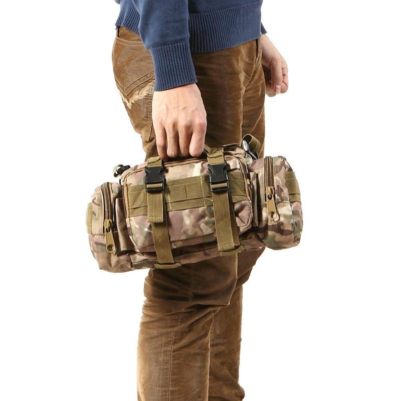 3L Outdoor Military Tactical Waist Pack Molle Oxford Camping Hiking Pouch Bag UK