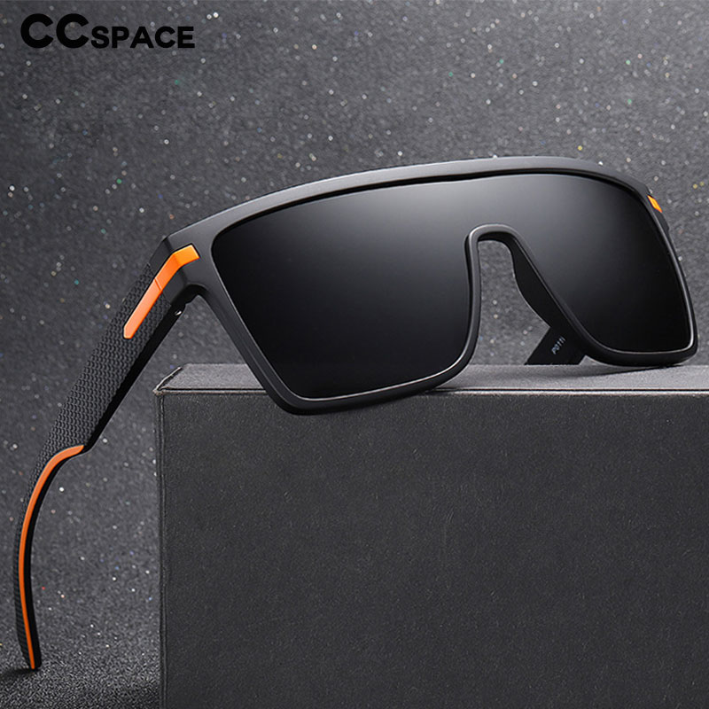 45993 Plastic Titanium Polarized One Lens Sunglasses Men Women Fashion UV400