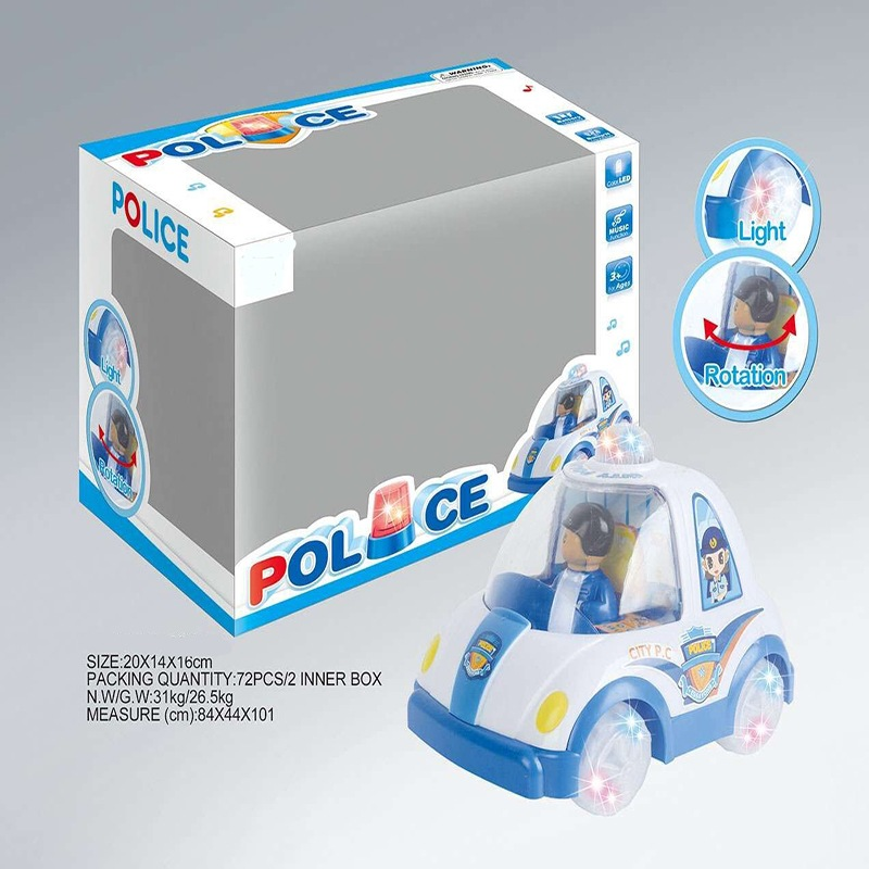 Children Electric Universal Car Toy Boy Model Universal Police Car Light Included Light Boy Police Model Toy Car
