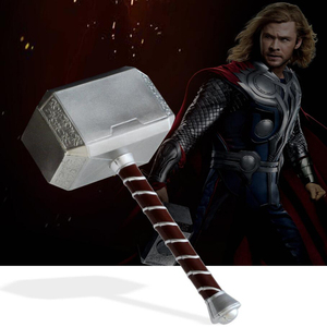 1: 1 Thor hammers 44cm Thor Thunderous Hammer Cosplay Weapons Model Figure children's gift