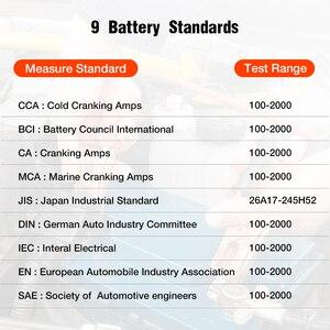 Image 5 - Konnwei KW208バッテリーテスター車デジタル12v 100 2000CCAクランキング充電システムテストツール自動車バッテリー容量テスター