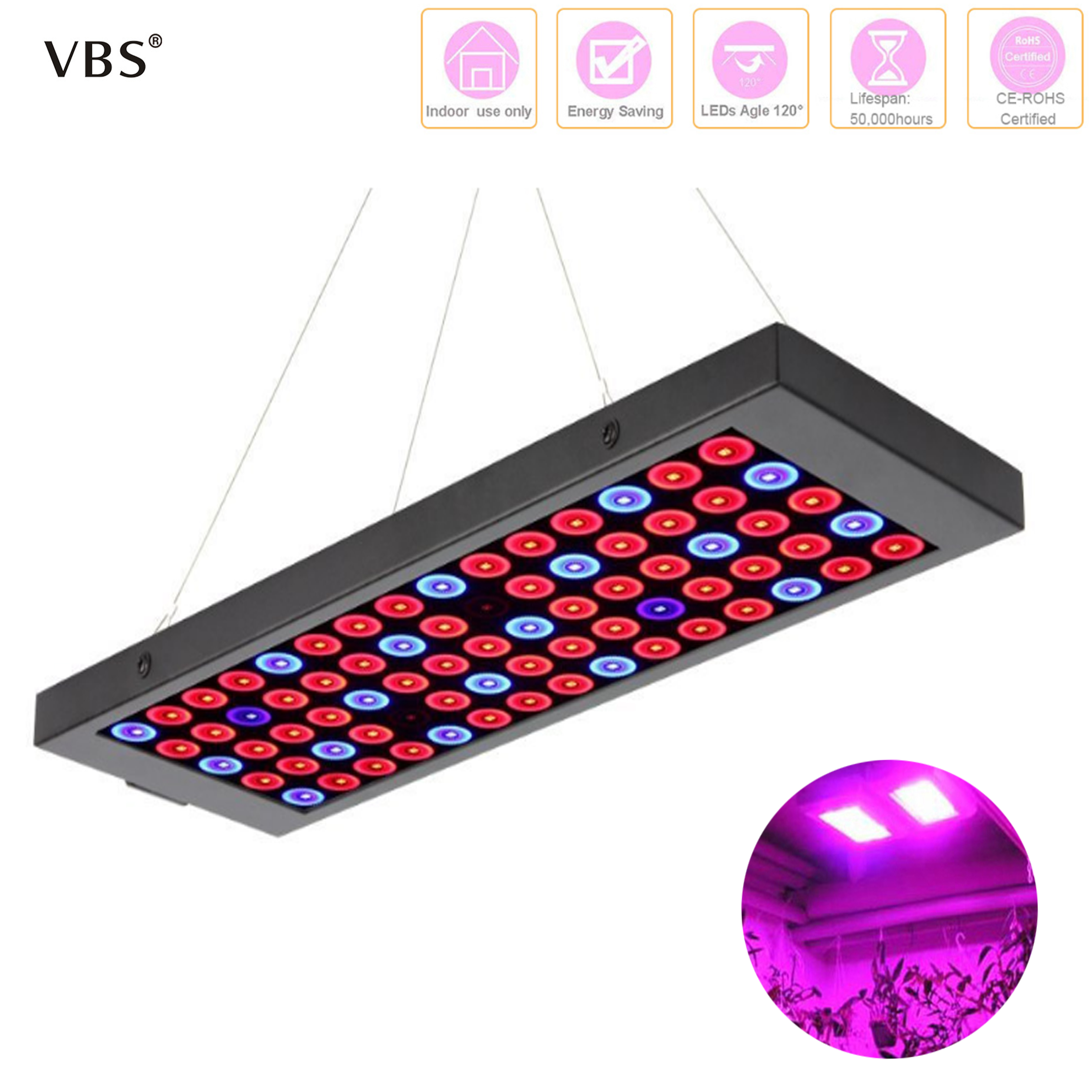 LED Grow Light Tent Indoor Garden Hydroponic Growing Lamp 50W Full Spectrum Red+Blue+UV Phyto Lamps For Plants Cultive  Box
