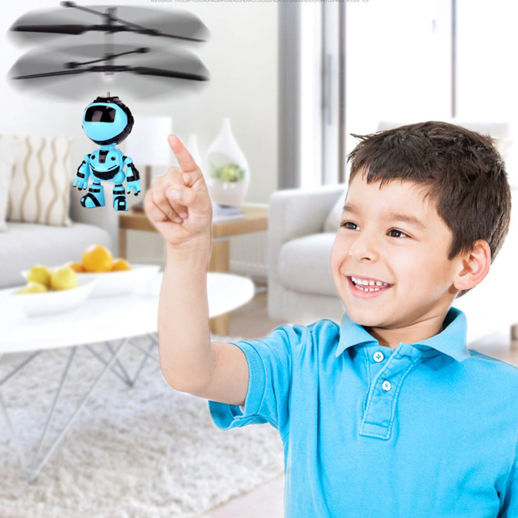 Robot Suspension Induction Aircraft Children'S Suspension Toy Lighting Toy Helicopter Flying Toy Rechargeable Drone