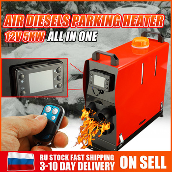 Air diesels Parking Heater Adjustable 12V 5000W All In One Car Heater For Trucks Caravan Boat LCD Switch Monitor Remote Control new lcd switch single hole black car air heater 12v 2kw air diesels heater parking heater with muffler for rv boat trail truck