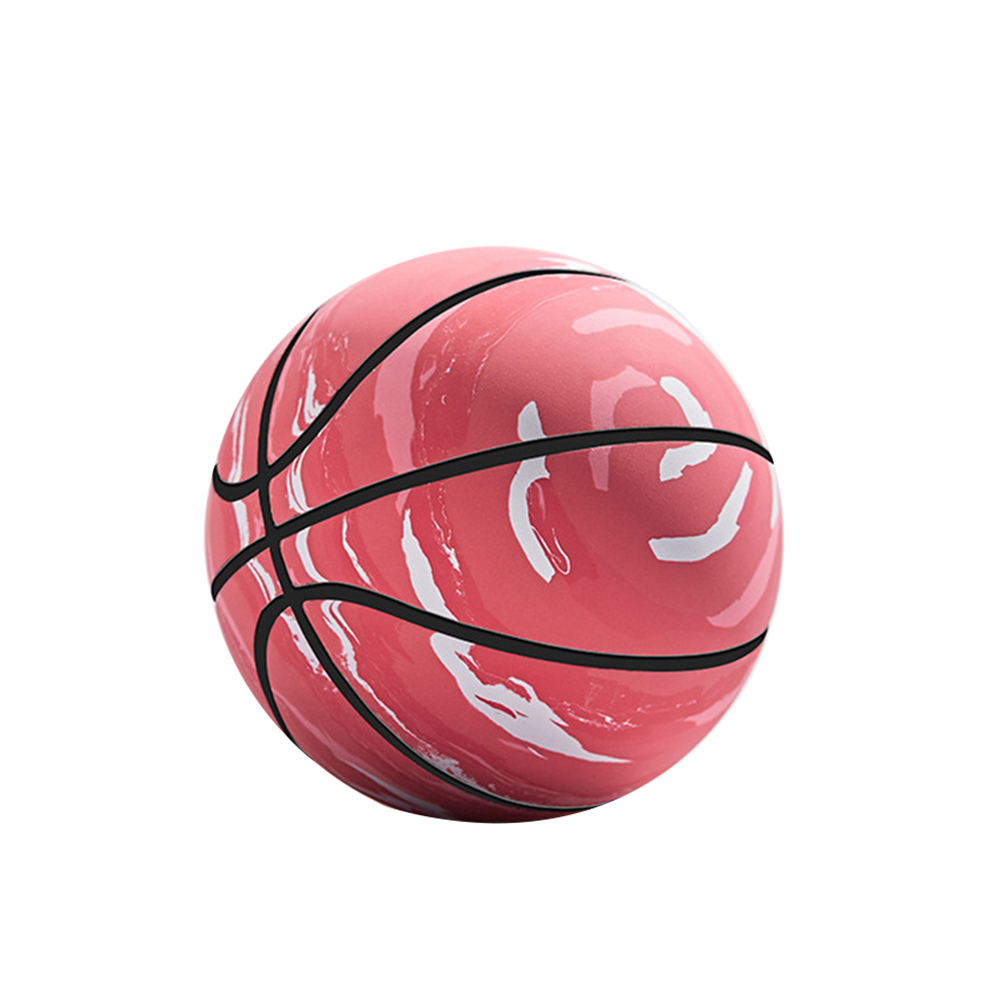 1 Pc Mini Basketball Hollow Rubber Funny Glossy Interactive Mini Bouncy Ball Plaything Bouncy Ball Basketball Toy Liu