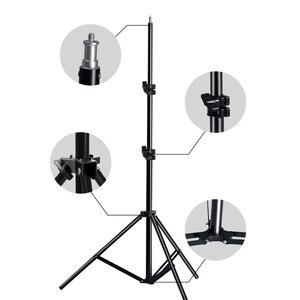 Image 1 - Professionelle Einstellbare Licht Stehen Stativ Mit 1/4 Schraube Kopf Für Foto Studio Blinkt Fotografische Beleuchtung Softbox