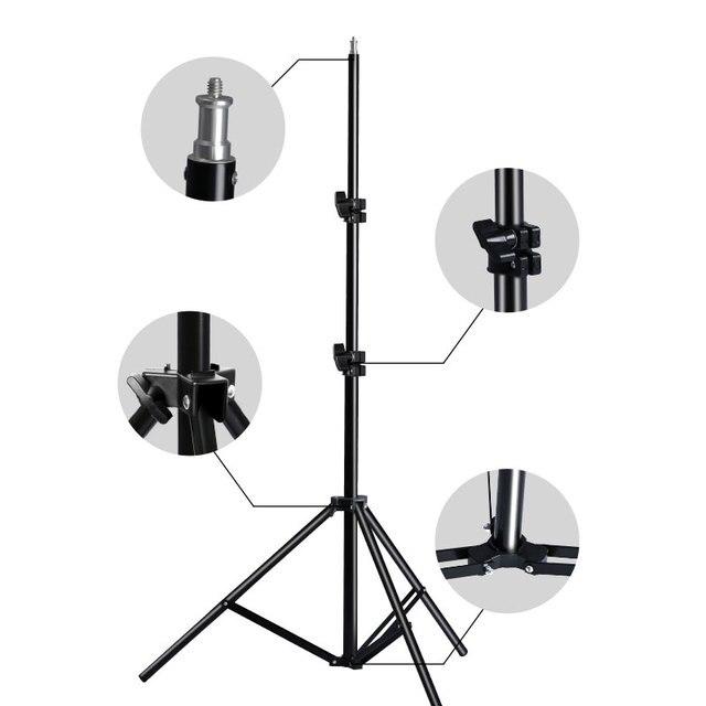 Professionelle Einstellbare Licht Stehen Stativ Mit 1/4 Schraube Kopf Für Foto Studio Blinkt Fotografische Beleuchtung Softbox