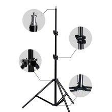 Profesyonel ayarlanabilir ışık standı Tripod ile 1/4 vida kafa fotoğraf stüdyosu yanıp sönen fotoğraf aydınlatma Softbox