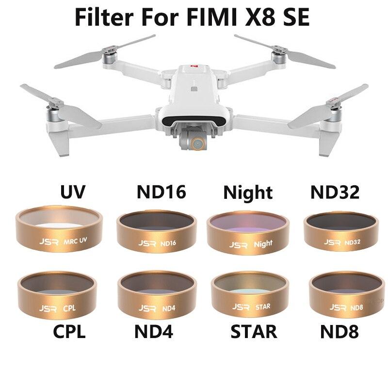 Фильтр камеры для Xiaomi Fimi X8 SE CPL UV Star ND 4 8 16 32 фильтры нейтральной плотности для Fimi X8 SE аксессуары для дрона Фотофильтры для объективов      АлиЭкспресс