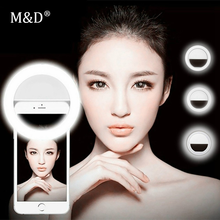 Universal Selfie Lampu Lensa Ponsel Portable Flash Cincin 36 LED Luminous Cincin Cahaya Klip untuk iPhone 8 7 6 Plus Samsung(China)