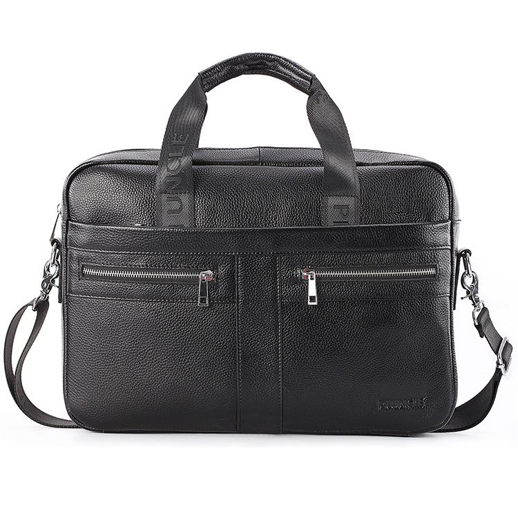 New Luxury 100% Cow Genuine Leather Business Men's Briefcase Male Shoulder Bag Men's Messenger Bag Tote Computer Laptop Bag