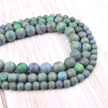 Frosted Phoenix Green Natural?Stone?Beads?For?Jewelry?Making?Diy?Bracelet?Necklace?4/6/8/10/12?mm?Wholesale?Strand