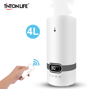 Top Fill 4L Humidifier Essential Oil Aroma Diffuser Cool Mist Ultrasonic Air Humidifier With Intelligent Remote Control(China)
