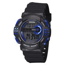 2020 Classic Watches for Men SHHORS Big Watches Men Outdoor Sports LED Digital Watches Multifunctional Electronic Watches Stocks cheap WoMaGe Resin 25cm 3Bar Buckle ROUND 22mm 17mm Glass Back Light LED display luminous Chronograph Water Resistant Alarm Swim