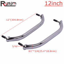 2pieces 316 Stainless Steel Boat Handrails Boat Polished Marine Grab Handle Handrail for marine yacht accessories 12''