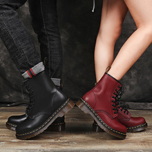 Women's Boots Martin Boots Leather Wool Warm Winter Autumn Plus Size Designers Motorcycle Ankle Boot Couple Oxfords Shoes Unisex unisex leather boots fashion winter autumn motorcycle martin boots men casual ankle boots warm couple snow boots big size