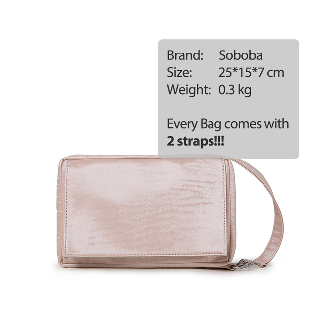 Soboba Pink Stylish Baby Wipe Bag Waterproof Maternity Tote Bag for Mother Portable Reusable Handle Fashion Wet Dry Diaper Bag | Happy Baby Mama