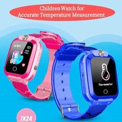 Enfants montres mesure de la température montres-bracelets enfant étanche intelligent rappel positionnement appel montre-bracelet enfant horloge