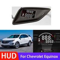 Pantalla frontal de coche HUD de alta calidad, accesorios electrónicos para Chevrolet Equinox, sistema de alarma de pantalla de conducción segura
