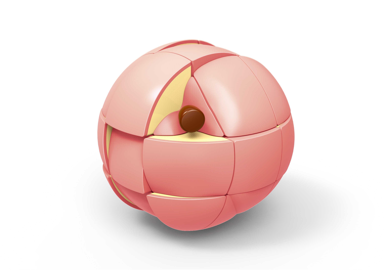 """Новейший fangxin фруктовый волшебный куб груша лимон персик оранжевый пазл куб Stickerless cube упаковка головоломка игра """"Забавные игрушки"""""""