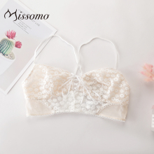 Missomo Transparent Lace Bra Set Panty Lingerie Women Wire Free Sexy VS Plus Size Porno See Through Underwear see through mesh lace bra panty set milf