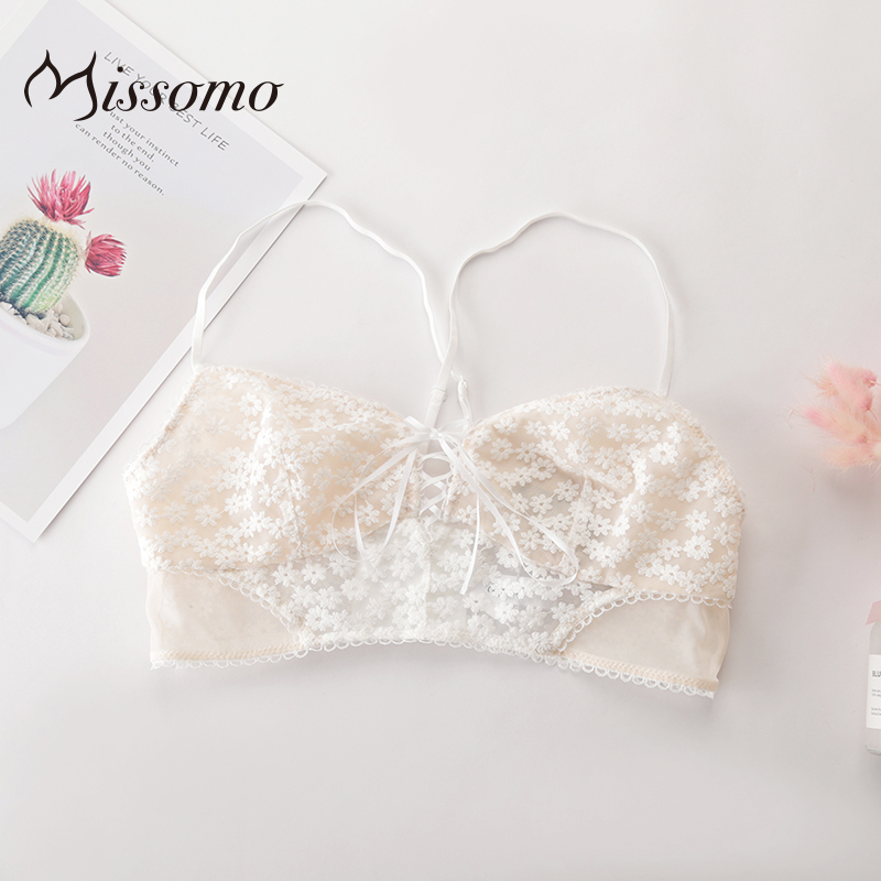 Missomo Transparent Lace   Bra     Set   Panty Lingerie Women Wire Free Sexy VS Plus Size Porno See Through Underwear