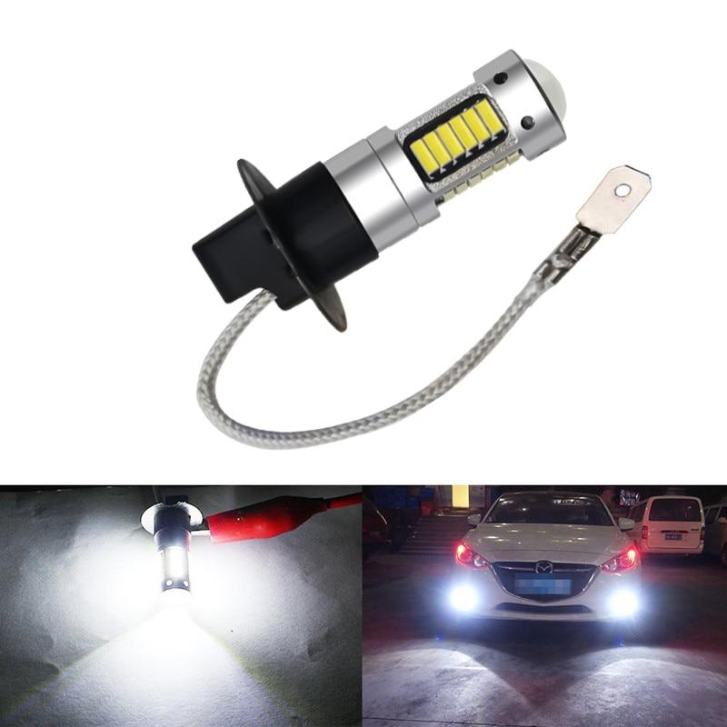 H3 светодиодный лампы дневного света 25W 4014 30SMD белый туман светильник для автомобиля