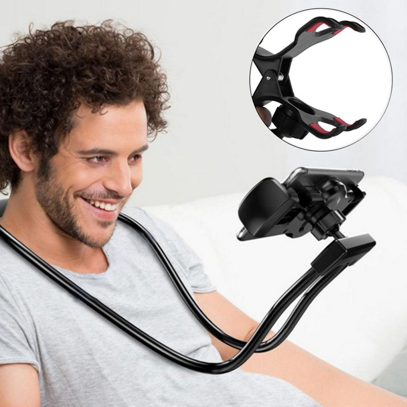 Portable Flexible Mobile Phone Holder Hanging Neck Lazy Necklace Bracket 360 Degree Smartphone Holder For IPhone Xiaomi Huawei