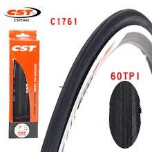 Cst conquistare estrada bicicleta pneu c1761 aço 700cx23c 25c 60tpi à prova de facada desgaste resistente dobrável pneu