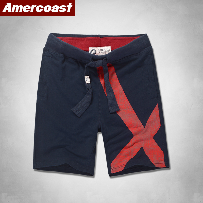 2020 New Shorts Men Hot Sale Casual Beach Shorts AMERCOAST Quality Bottoms Elastic Waist Fashion Brand  Plus Size Streetwear