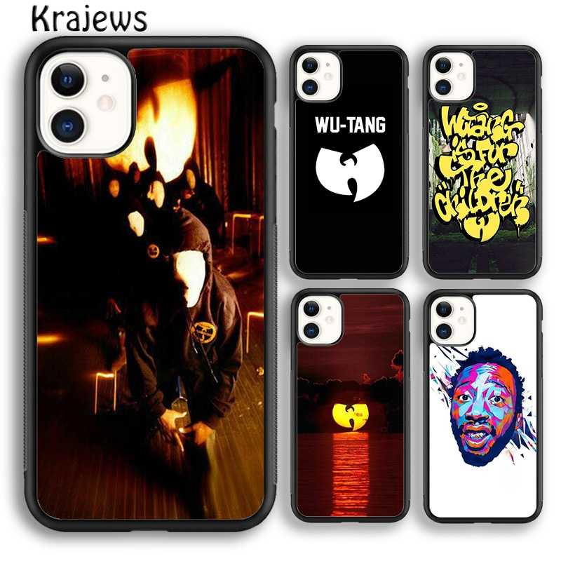 Krajews Pop Wu Tang Clan Hip Hop Phone Case Cover UNTUK iPhone 5 SE 6S 7 7 Plus X XR X 11 Pro Max Samsung Galaxy Note S8 S9 S10