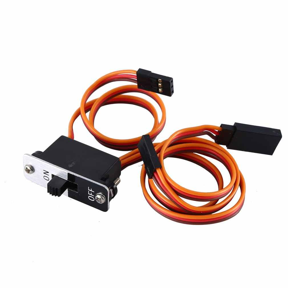2019 NEW Upgrade 3 Way Medium On/Off Power Switch Wire Harness Cable with JR Connectors Plug Receiver Charge Port to RC Car Boat