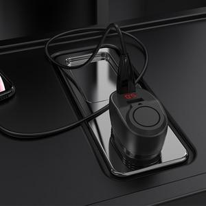 Image 5 - HOCO المزدوج USB شاحن سيارة ولاعة السجائر فتحة مع LED عرض 96 واط 3.1A سريع شاحن سيارة مهايئ شاحن آيفون 11 برو