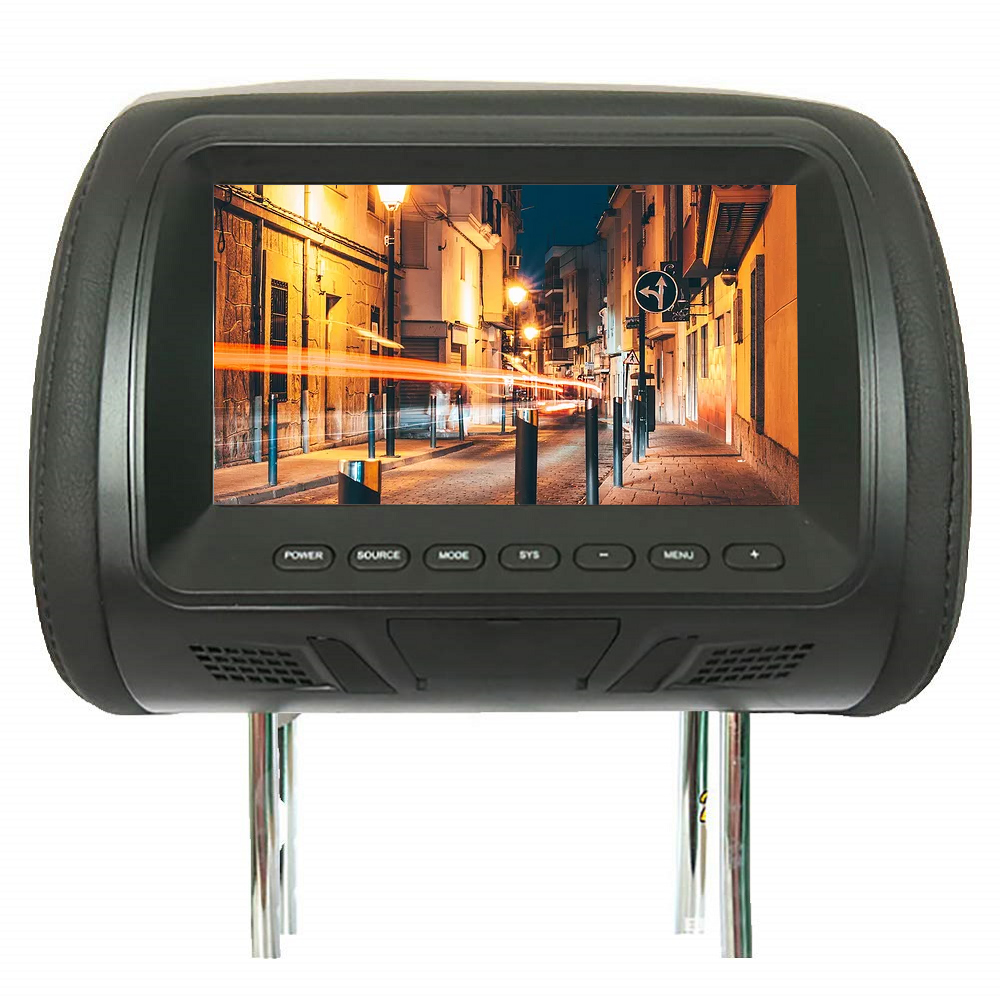 Universal 7inch Car Headrest Multi Media Player Automobile DVD Monitor Rear Seat Entertainment Multi-media Player General AV