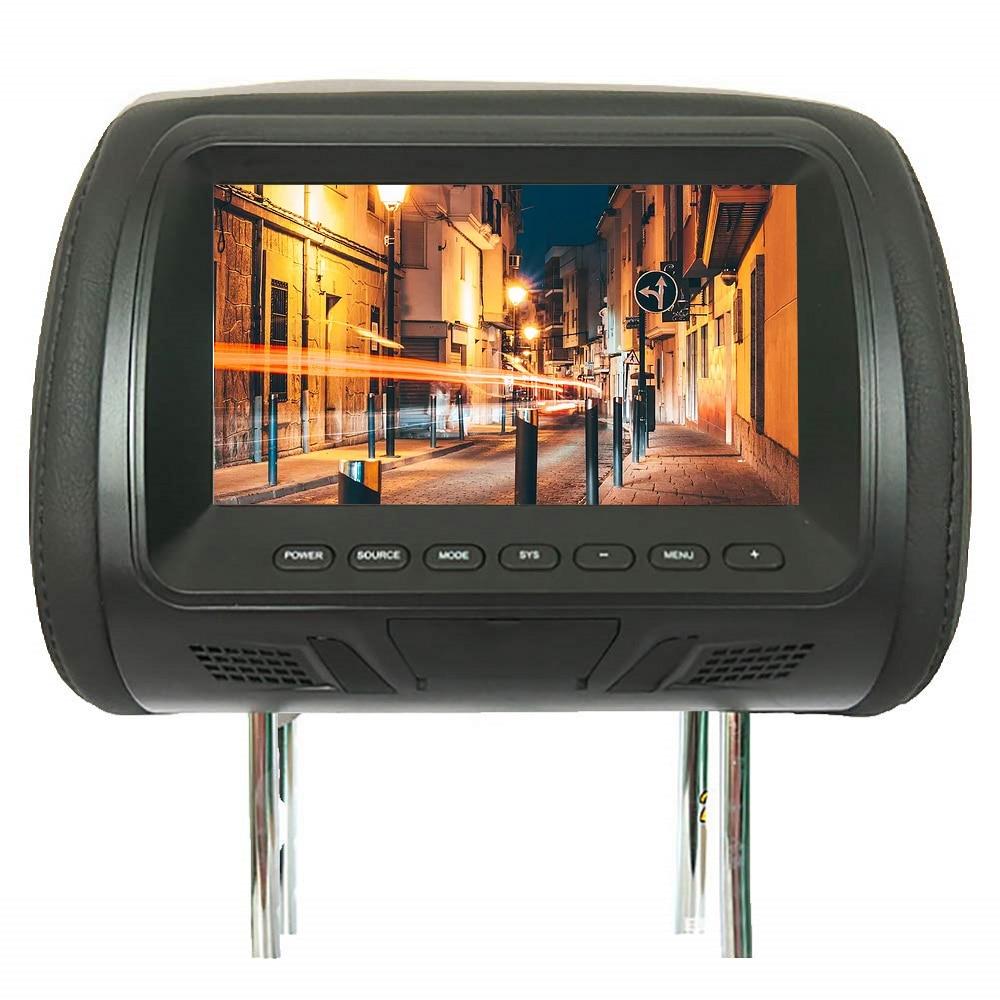 Universal 7inch Car Headrest Multi Media Player Automobile DVD Monitor Rear Seat Entertainment Multi-media Player General AV