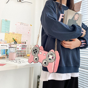 Image 4 - Fun Cartoon  Game Stlyle Fashion Small Crossbdoy Bag for Women 2020 Purses and Handbag Clutch Bag Shoulder Bag with Chain Strap