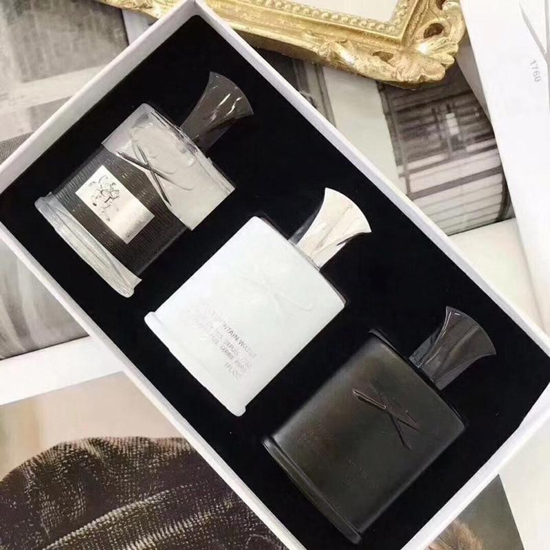 New Perfume 3 Pcs Sets Aventus Tweed Silver Mountain Water Fragrance Long Lasting Time Cologne 30ml*3pcs Set