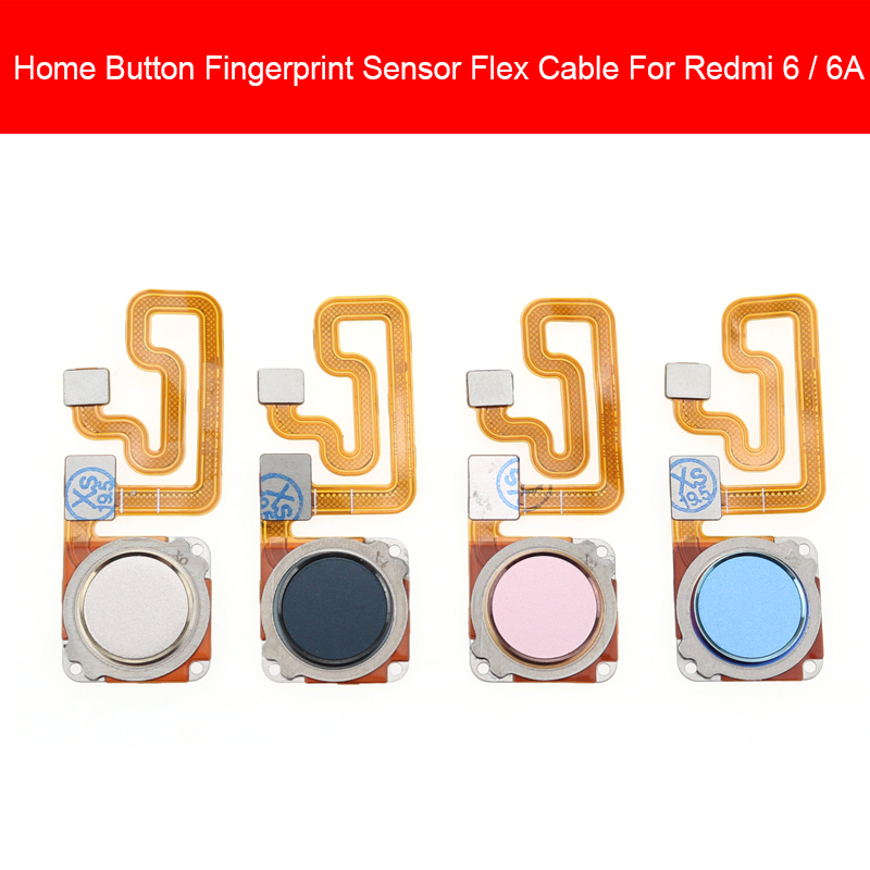 Home Button For Xiaomi Redmi 6 6A Home Button Fingerprint Menu Return Key Recognition Sensor Flex Ribbon Cable Replacement
