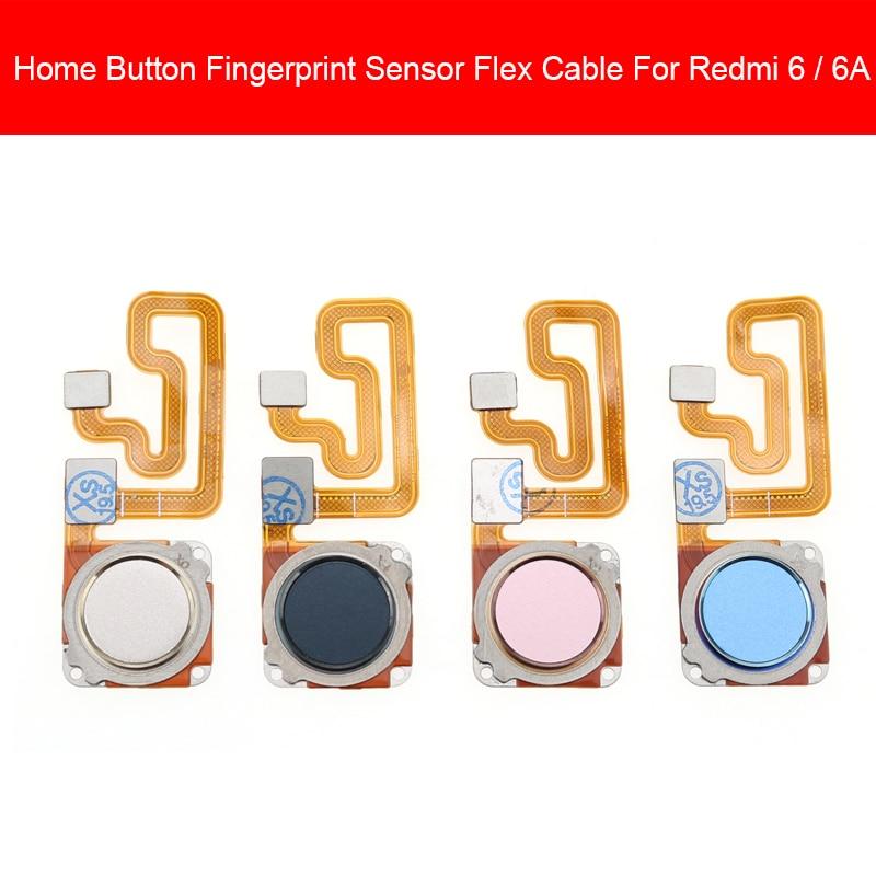 Home Button For Xiaomi Redmi 6 6A Home Button Fingerprint Menu Return Key Recognition Sensor Flex Ribbon Cable Replacement