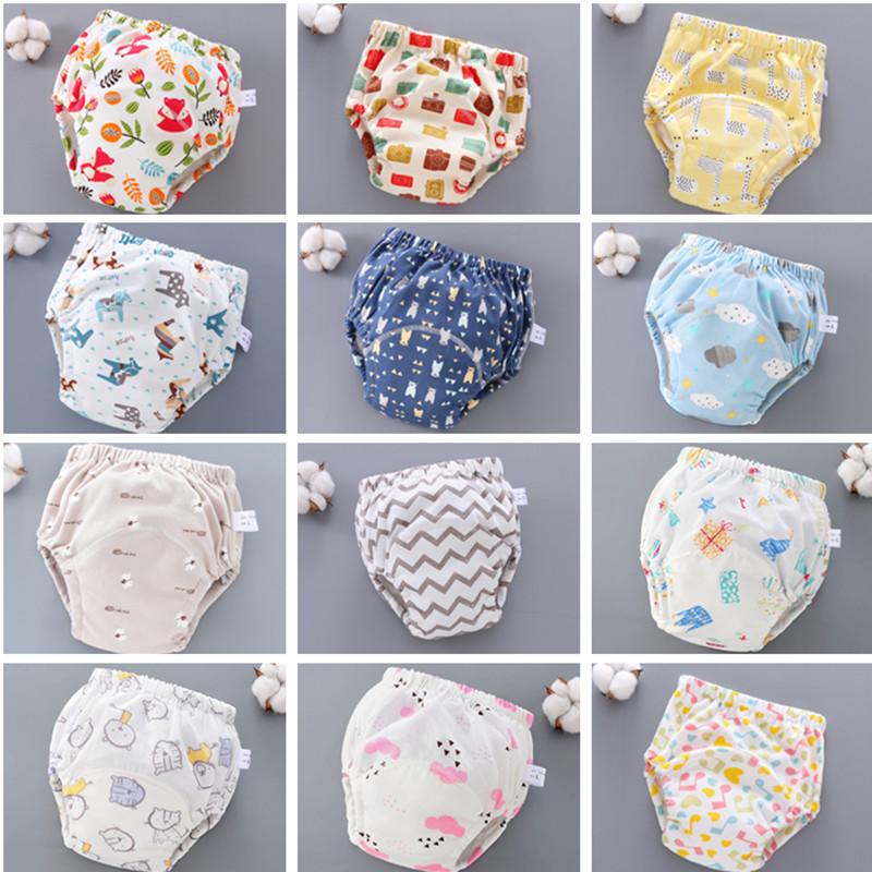 6 Layers Cotton Gauze Baby Diapers Infants Reusable Nappies Toddler Cloth Diaper Baby Training Pants Panties Washable