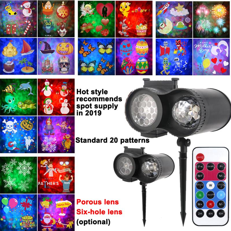 Christmas Lights Snowfall LED Laser Projector IP65 Waterproof Outdoor Garden Snowflake Projector Light For Holiday Party NewYear