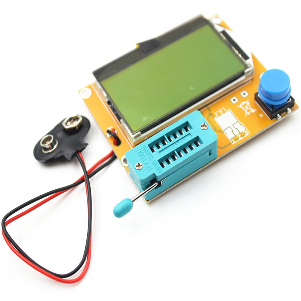 V2.68 ESR-T4 Mega328 Digital Transistor Tester Diode Triode Capacitance ESR Meter MOS/PNP/NPN LCR 12864 LCD Screen Dropship