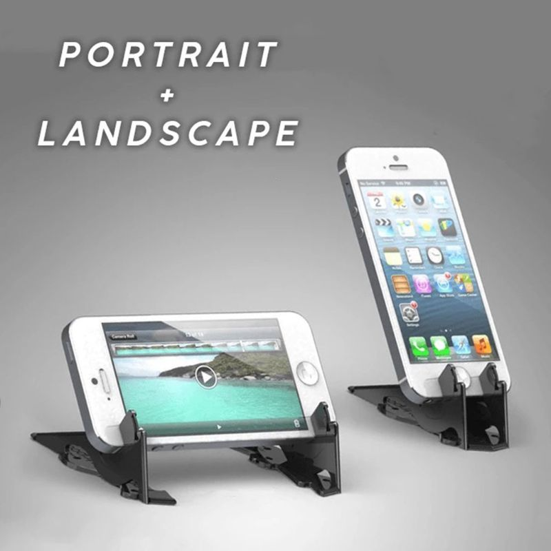 Portable Foldable Mobile Phone Holder Card Type Rotation Pocket Tripod Support