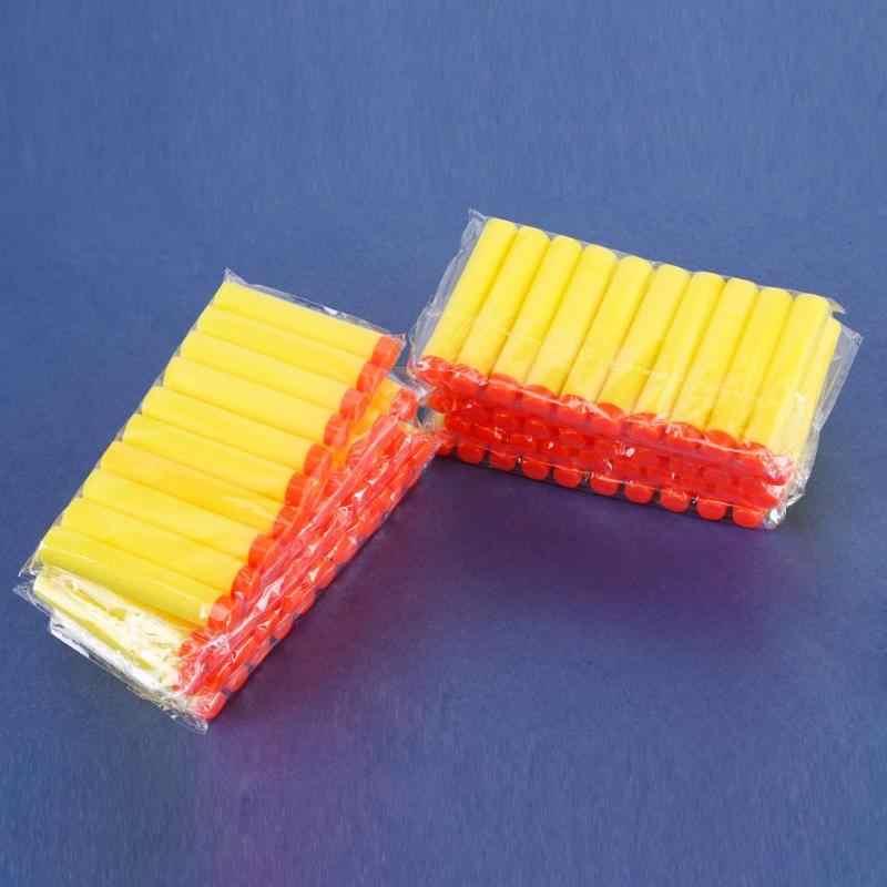 100pcs สำหรับ NERF กระสุน EVA Soft Hollow Hole หัว 7.2cm Refill Bullet Darts สำหรับ NERF Toy Gun อุปกรณ์เสริมสำหรับ NERF Blasters