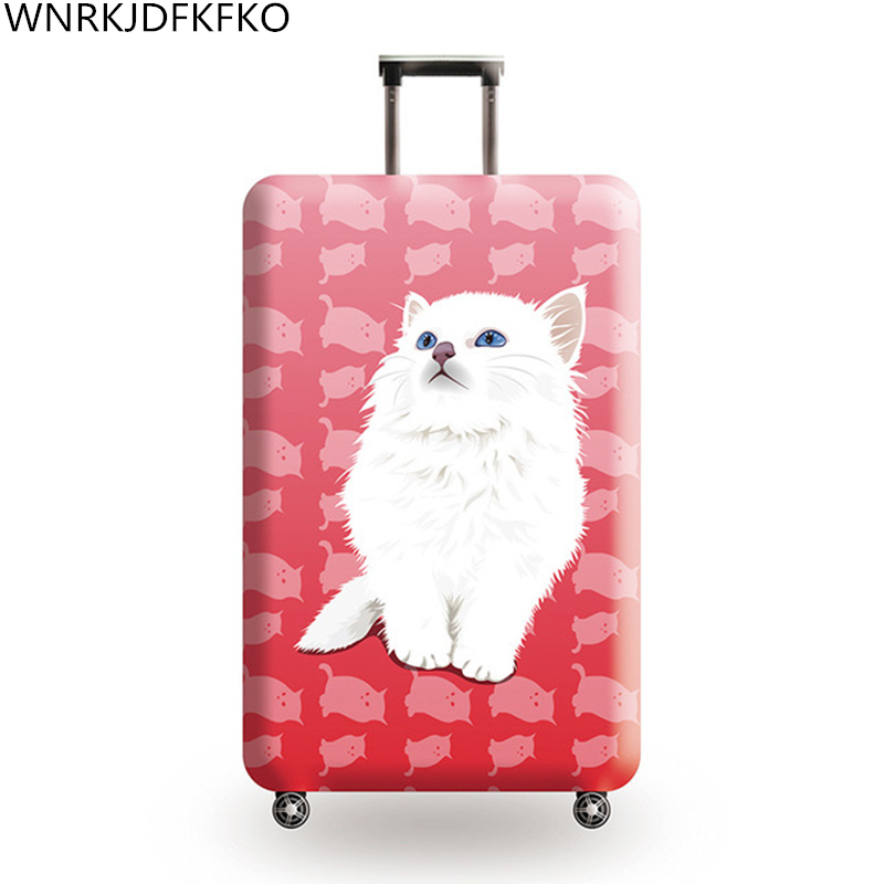 Animal Picture Thicken Luggage Protective Cover 18-32 Inch Trolley Luggage Travel Bag Elastic Covers Protective Suitcase Case