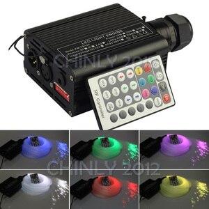 Image 5 - DMX 16 واط RGBW LED الألياف البصرية محرك RF التحكم عن بعد لجميع أنواع الألياف البصرية كابل سقف الإضاءة سائق