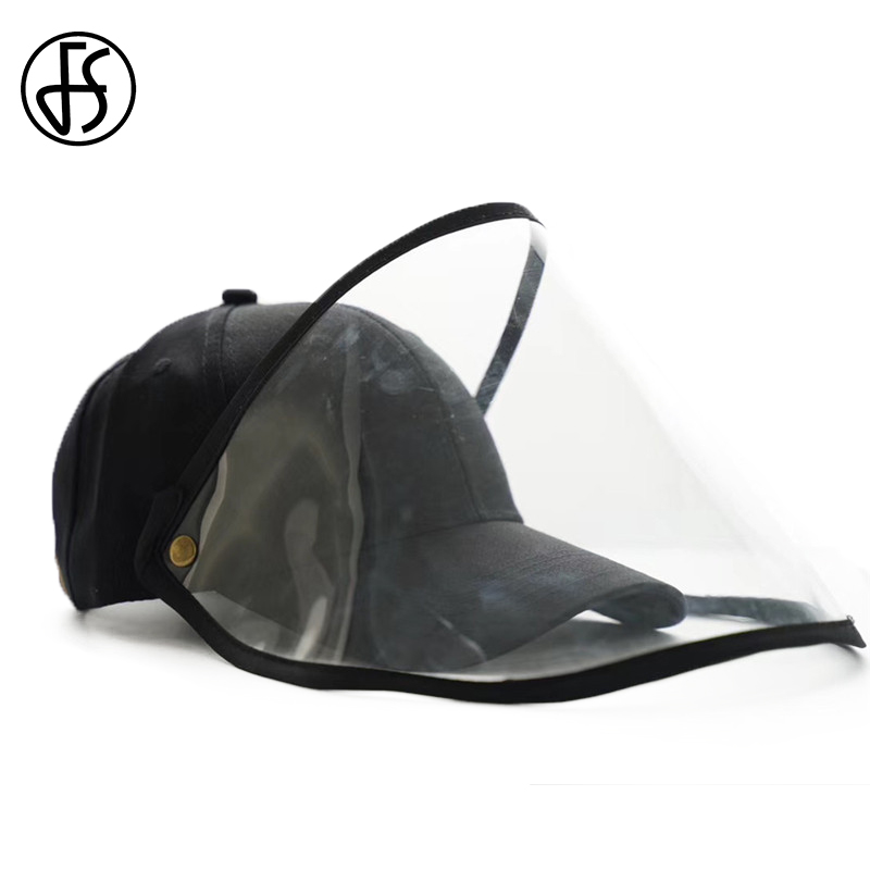 FS 2020 Spring Summer Protective Cap Eye Protection Baseball Cap Women Men Removable Anti-saliva Face Cover Caps