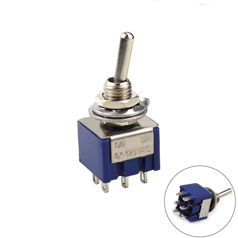 Mini Latching Toggle Switch 3 Pin ON//ON SPDT 6A 125VAC//3A 250VAC Free Postage