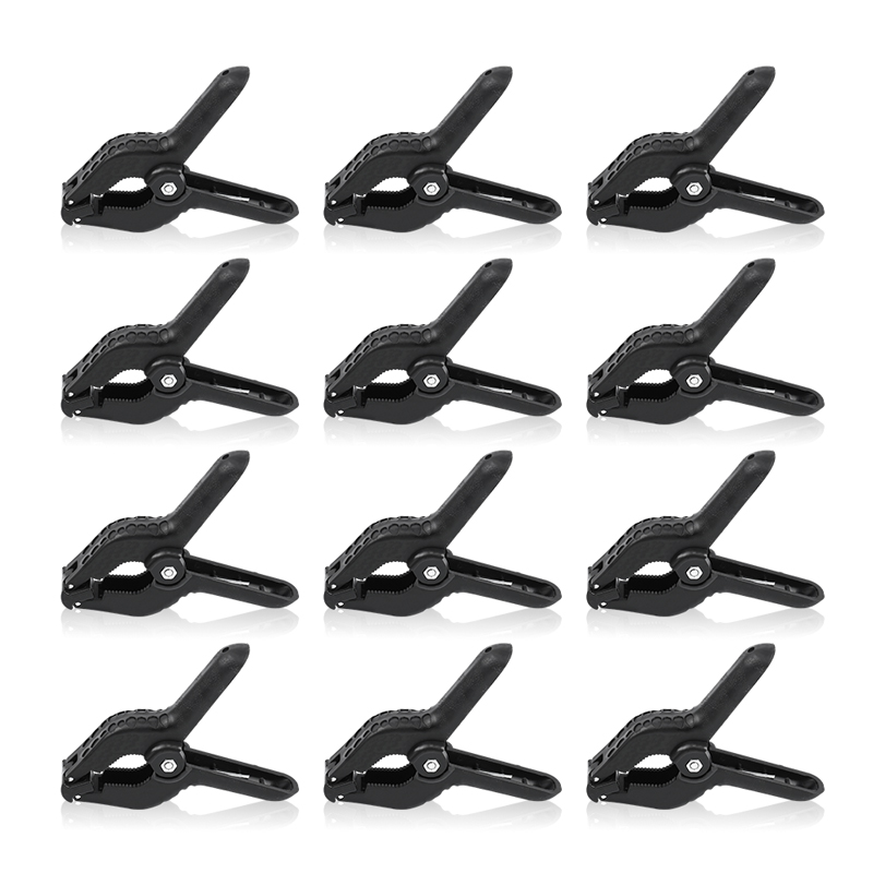 Heavy Duty Spring Clamps Clip 4.7 Inch for Muslin Paper Photo Studio Backdrops Background 12 Pack