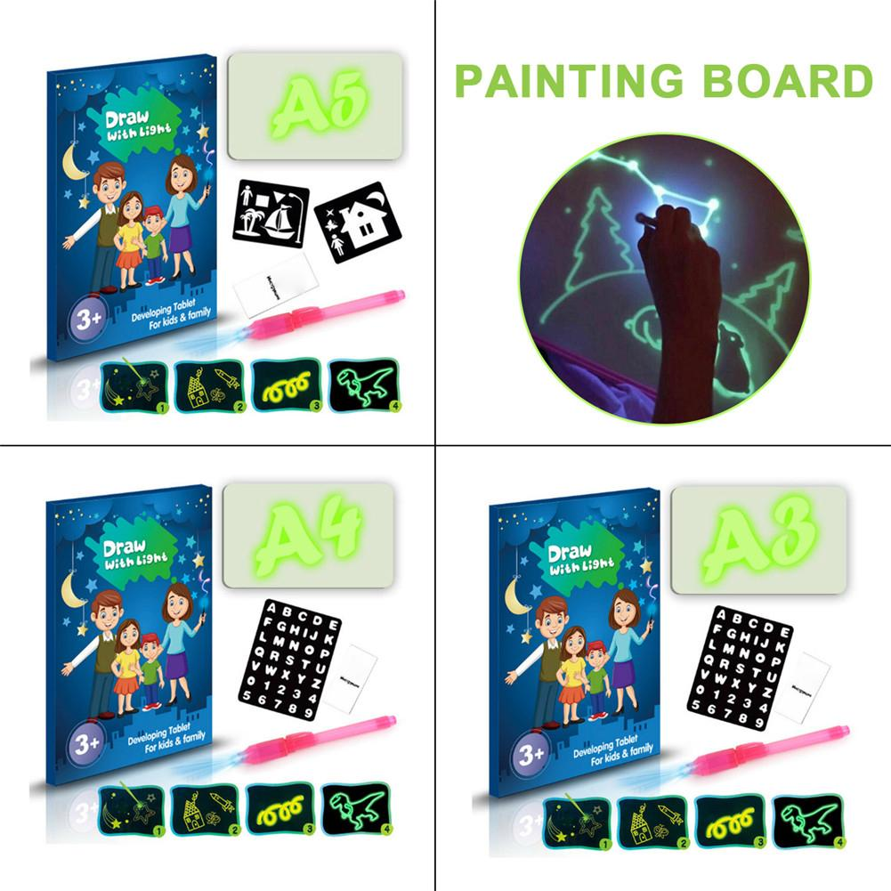 Light Drawing Board Toy Doodstage Draw With Light 3D Drawing Board Fun And Developing Toy For Kids Toddler Birthday Gift